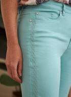 Embroidered Detail Capri Pants, Green