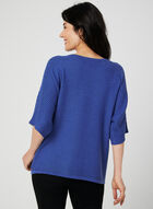 Dolman Sleeve Knit Top, Blue, hi-res