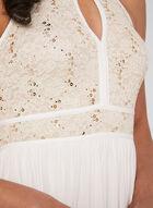 Robe à corsage en dentelle et jupe en jersey, Blanc cassé, hi-res