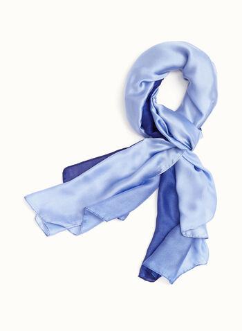 Ombré Wrap Scarf, Blue, hi-res