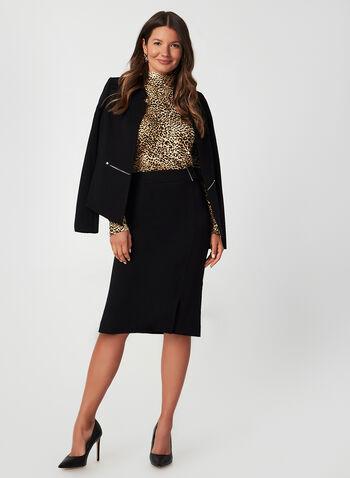 Leopard Print Long Sleeve Top, Brown, hi-res,  top, long sleeve, leopard, animal motif, jersey, fall 2019, winter 2019