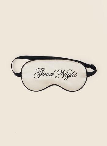 Good Night Eye Mask, Brown,  holiday, gift, holiday 2020, mask, sleeping, eye mask, fabric, fall winter 2020