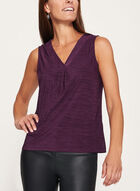 Heather Print Jersey Top , Purple, hi-res