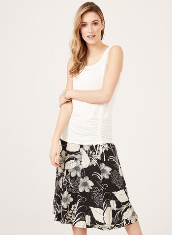 Scoop Neck Sleeveless Top, Off White, hi-res