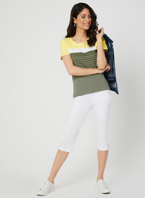 Stripe Print T-Shirt, Green