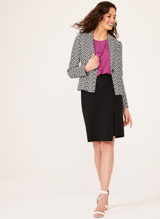 Zig Zag Print Jacket, Black, hi-res