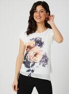 Floral Print Layered Blouse, White, hi-res
