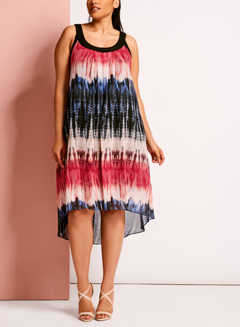 Tie Dye Print High-Low Dress, , hi-res