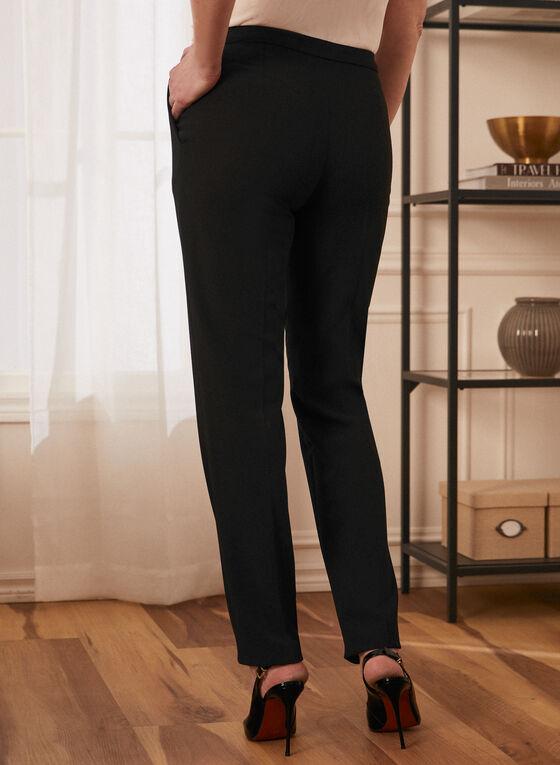 Louben - Pantalon coupe moderne à jambe droite, Noir