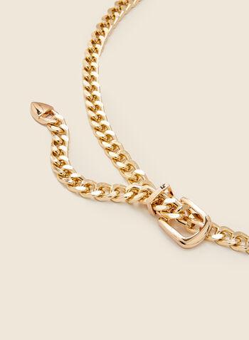Chain Belt, Gold,  belt, chain, metallic, buckle, fall winter 2020