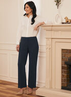 Louben - Pantalon plissé à jambe droite , Bleu