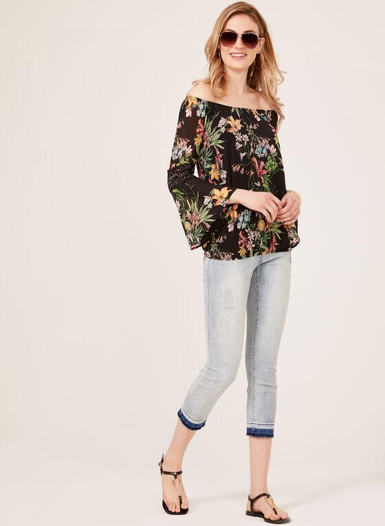 Floral Print Peasant Blouse, Multi, hi-res