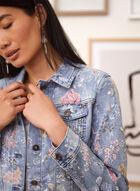 Charlie B - Floral Print Jean Jacket, Blue