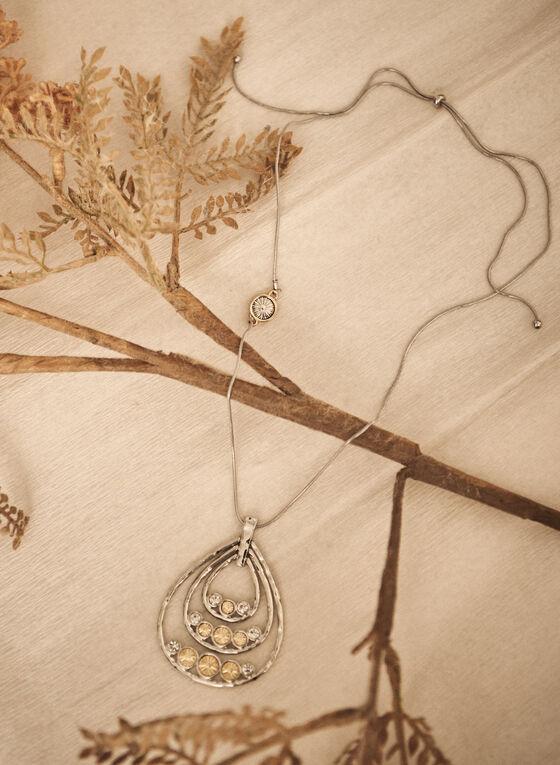 Teardrop Pendant Necklace, Yellow