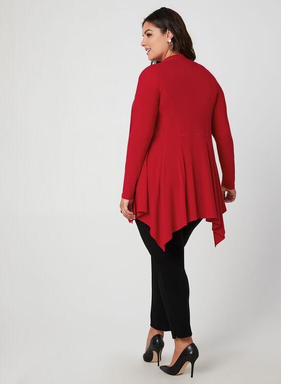Joseph Ribkoff - Haut ouvert en jersey, Rouge, hi-res