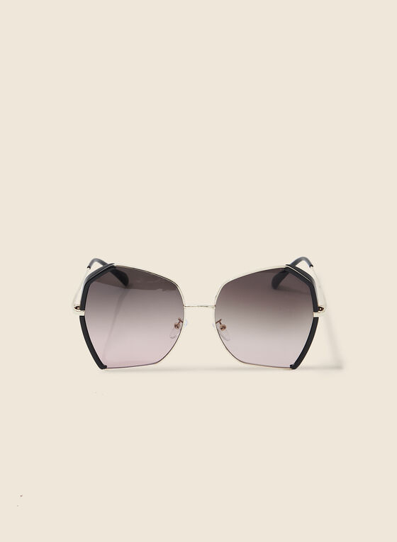 Geometric Sunglasses, Black