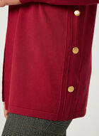Open Front Shawl Cardigan , Red, hi-res