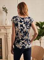 Floral Print Cap Sleeve Top, White