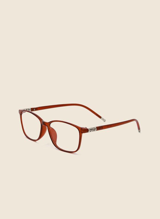 Plastic Coloured Reading Glasses, Red