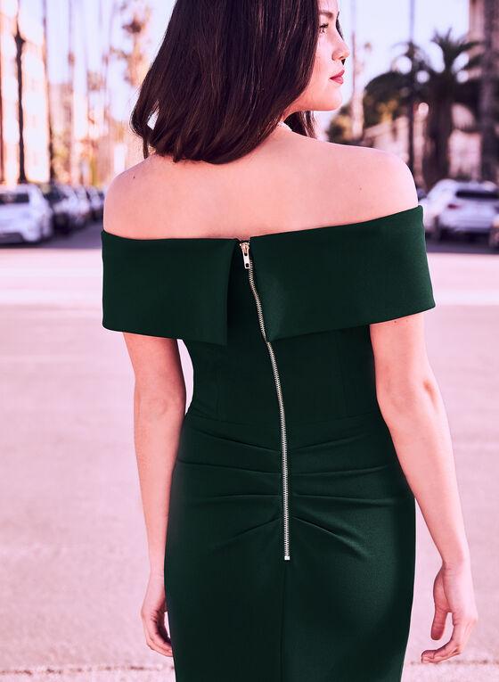 Off-the-Shoulder Gown, Green, hi-res