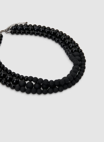 Black Pearl Necklace, Black, hi-res,  Black pearls, statement necklace
