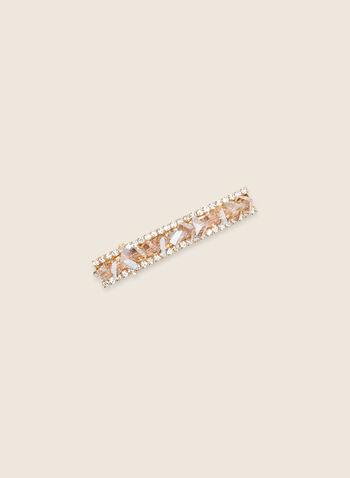 Crystal & Rhinestone Hair Clip, Pink,  hair, hair clip, stones, rhinestones, crystal, spring summer 2020
