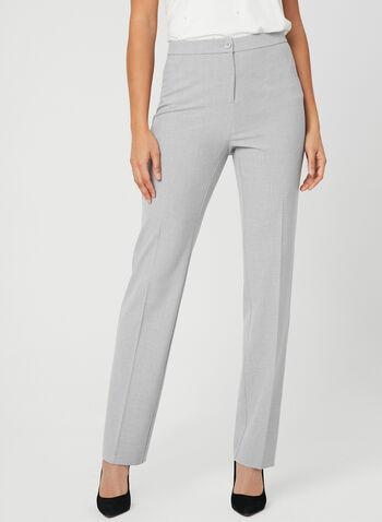 Signature Fit Straight Leg Pants, Grey, hi-res,  dress pants