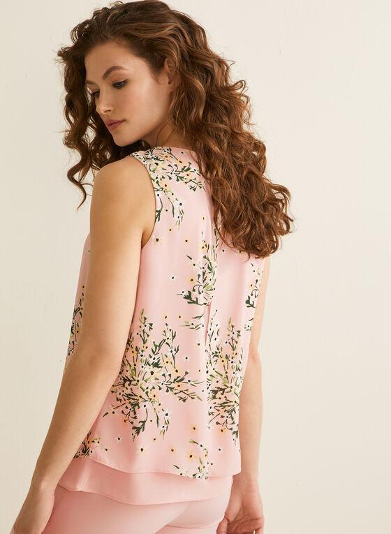 Sleeveless Floral Print Blouse, Multi