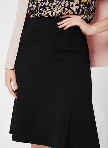 Trumpet Skirt, Black,  gored skirt, lined, fall 2019, winter 2019