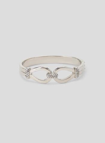 Crystal Embellished Bangle Bracelet, Silver, hi-res