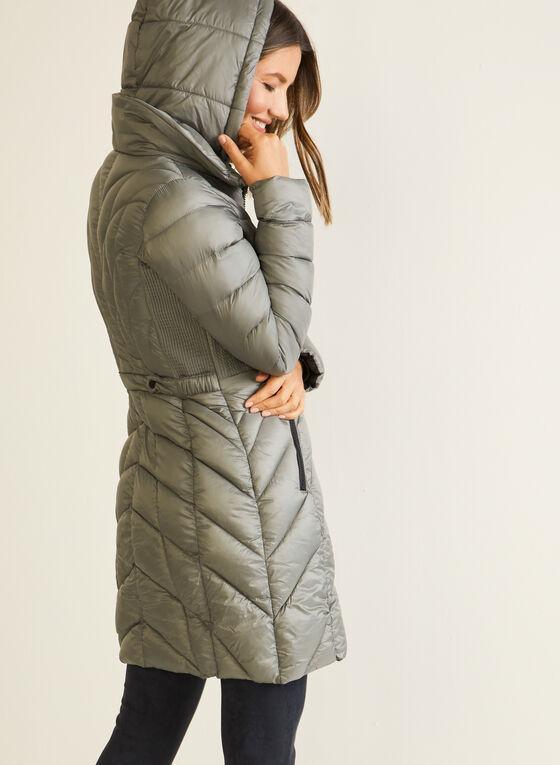 Bernardo - EcoPlume™ Mid Length Coat, Silver