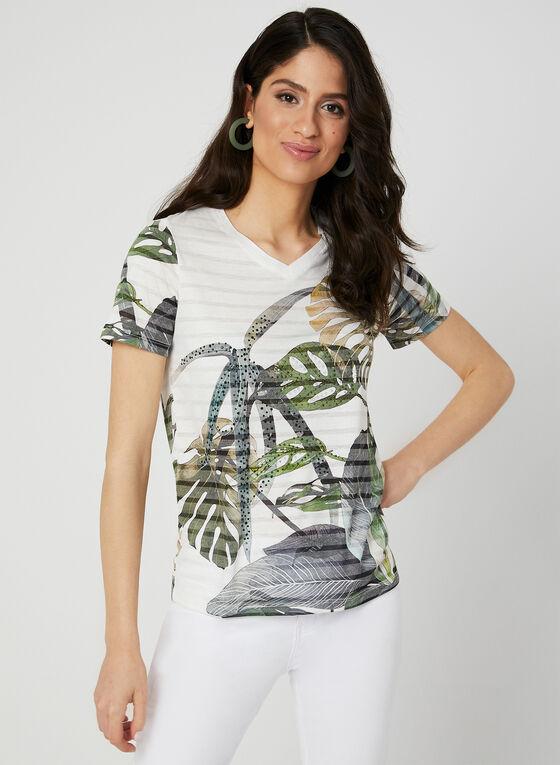 V-Neck Burnout T-Shirt, Green