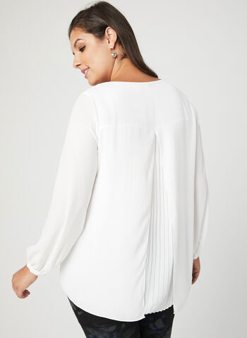 Back Capelet Overlay Blouse, Off White, hi-res