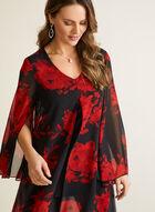 Compli K - Blouse tunique à motif floral, Rouge