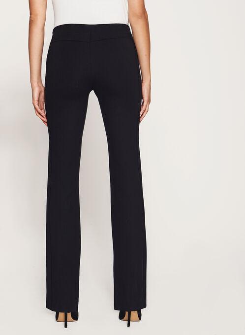 Pantalon pull-on à jambe droite, Noir, hi-res