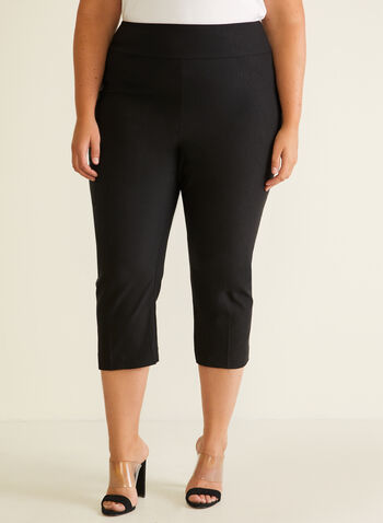 Meg & Margot - Slim Leg Pull-On Capris, Black,  capris, pull-on, slim leg, spring summer 2020