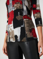 Abstract Print Top, Red, hi-res
