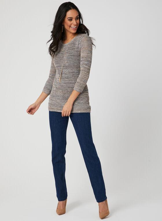 Alison Sheri - Crochet Knit Top, Multi, hi-res