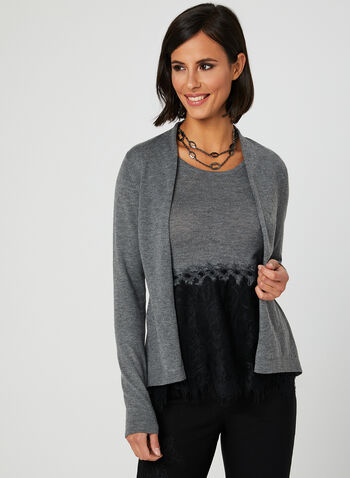 Marina V - 2-Piece Cardigan Set, Grey, hi-res