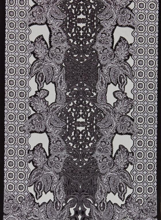 Foulard à imprimé abstrait , Noir, hi-res