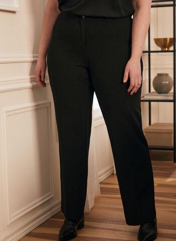 Modern Fit Wide Leg Pant, Black,  pants, wide leg, mid-rise, crepe pants, wide leg pants, modern fit, contour waist, spring 2020, summer 2020