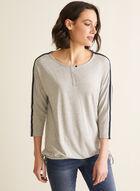¾ Sleeve T-Shirt, Grey