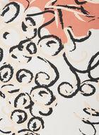 Foulard oblong léger à fleurs, Orange