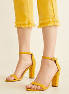Fringe Bottom Capri Pants, Yellow