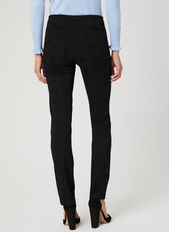 Pantalon coupe cité motif tartan, Noir, hi-res