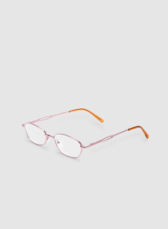 Oval Reading Glasses, Pink