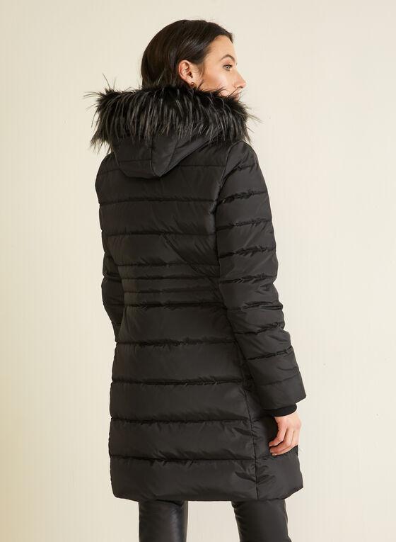 Manteau matelassé en duvet , Noir
