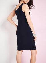 Jersey Drape Front Dress, Blue, hi-res