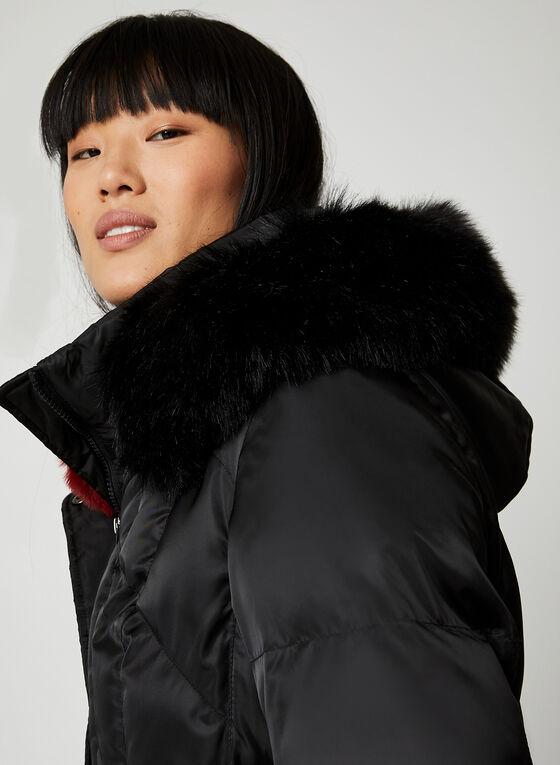 Northside - Matte Faux Fur Coat, Black