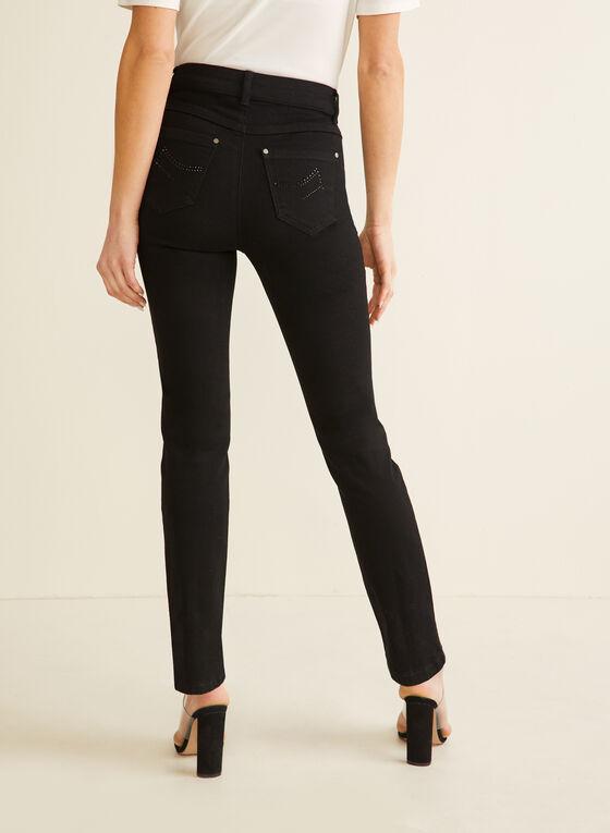 Jeans à jambe droite, Noir